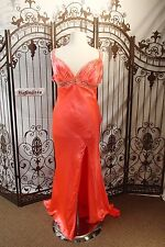 J227 MORI LEE SZ 24 $199 V NECK BEADED PROM PAGEANT PARTY GOWN DRESS