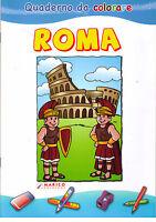 Quaderno da colorare, ROMA - Morleo -  Libro Nuovo in Offerta