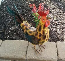 "Tuscan Rooster 17"" Metal Sculpture"