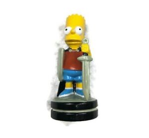 """THE SIMPSONS 3D CHESS SET REPLACEMENT PIECE Bart THE BLACK Bishop FIGURE 2.5"""""""