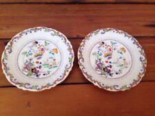 "Masons Ironstone China England Japanese Imari Lotus Saucers Small Plates 7.25"""