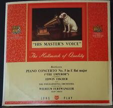HMV ALP 1051 ED1 UK BEETHOVEN PIANO CONCERTO NO. 5 FISCHER FURTWANGLER PO VINYL