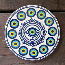 Turkish ceramic trivet ROUND- traditional Ottoman designs,16cm diameter #13