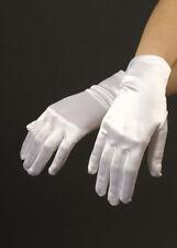 Ladies White Satin Gloves Nurse Wedding Bridesmaid Magician Fancy Dress