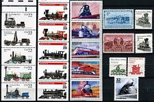 TRAINS! 22 Different MNH US Postage Stamps See Listing for Scott #'s