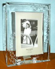 "Kate Spade Lenox Gardner Street Crystal Frame 5x7"" Etched Foliage New"