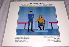 Rare Star Trek Laminated Cel Promo Binder At The Helm