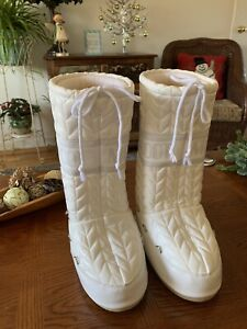 The Original Moon Boot Snow Boots White Tecnica Padded Womens Sz 39-41
