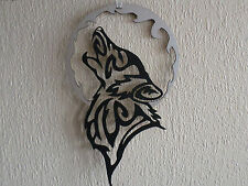 TRIBAL WOLF WALL HANGING ART DECORATION PAGAN CELTIC SPIRIT GUIDE WOLVES MOON