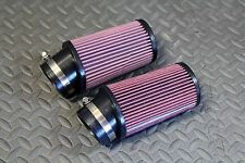2 x NEW Yamaha Banshee K&N style pod air filters Keihin PWK 38 39 41mm carbs