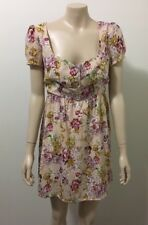 "pre-loved ""MINKPINK"" light pink floral sund dress fully lines sz 12"