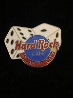 Hard Rock Cafe Logo Pin  ATLANTIC CITY 1996 Dice