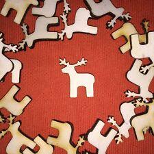 20 x mini REINDEER RUDOLPH n2 WOODEN CRAFT CHRISTMAS CARDMAKING & SCRAPBOOKING