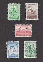 Belgium sc# B480-484 MNH OG set 1950 Athletics b480-b484