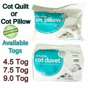 New Echo Anti Allergy Baby Nursery Toddler Junior Cot Bed Duvet Quilt OR Pillow