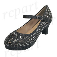New girl/'s kids beads formal dress wedding shoes Silver rhinestones wedding