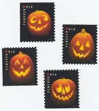US 5137-5140 Halloween Jack-O'-Lanterns forever set (4 stamps) MNH 2016
