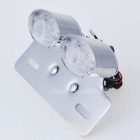 LED Motorcycle Quad Bike Turn signal Brake License Plate Integrated Tail Light