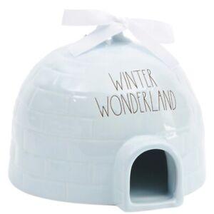 New Rae Dunn Winter Wonderland Baby Blue Igloo Shaped Birdhouse Online Exclusive