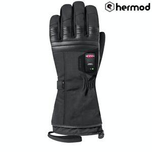 Racer Connectic 4 F Ladies Heated Winter Waterproof Motorcycle Gloves - Black