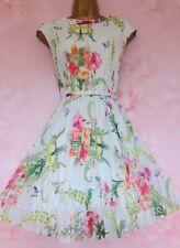 TED BAKER ~Perlaa~ Dress UK 8 1 ~Wedding~ Mint Green Pleated Floral So Beautiful