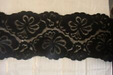 Black Rigid Lace Trimming 49mts 11cm Wide