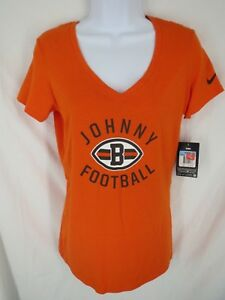 Cleveland Browns Johnny Manziel Womens Size M Medium Nike V-Neck Shirt