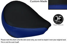 R BLUE & BLACK VINYL CUSTOM FOR YAMAHA XVS 650 CLASSIC V STAR FRONT SEAT COVER