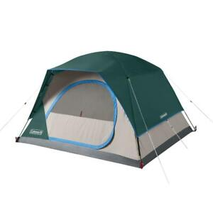 Skydome Camping Tent 4 Person Hiking Picnic Dome Tent with Carry Bag Evergreen