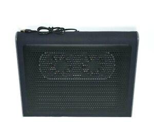 Targus UBS Laptop Cooler Portable Chill Mat Dual Computer Fan Black Gray AWE55US