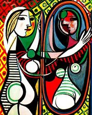 Pablo Picasso Girl before a Mirror canvas print giclee 8X12&12X17 reproduction