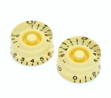 (2) Cream 1-10 Speed Knobs for Gibson® & Guitar/Bass w/CTS Pots PK-0130-028