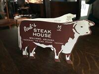 Vintage Postcard>1950's>Rod's Steak House>Die Cut Menu>Grand Canyon>Williams>AZ