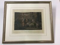 """Fores's Coaching Recollections Engraving """"The Olden Time"""" 1874"""