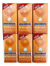 6X Mentos NOW Orangemint Sugar Free Breath Mints 50 Count Tins 1.27 oz, X 4/2018