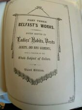 Belfast's waistcoats/vest system tailoring book 1870's tailor and cutter