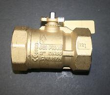 "JOHNSON CONTROLS VG1241FS 2"" 2W BALL VALVE 46.8 CV BRASS TRIM HVAC - NEW"