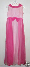 double pink flowing cocktail gown Mid Century mod attached back scarf  5