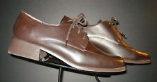 J.G. Hook Dark Chocolate Brawn Leather Classic Split-Toe Oxford 10M EXCELLENT!