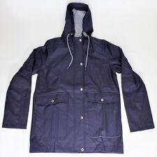 Ladies Womens Mac Shower Jacket Anorak Hooded Coats Festival Rain Coat PU Coated