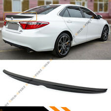 FOR 2012-2014 TOYOTA CAMRY LE SE XLE PAINTED GLOSSY BLK REAR TRUNK LID SPOILER