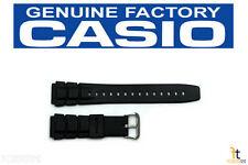 Casio ALT-6000-1V Original 20mm Schwarz Gummi Watch Band Strap ALT-6100