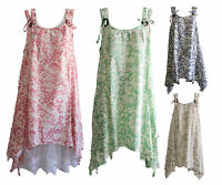 NEW Quelque by FILO Floral Double Strap Tunic with Buttons SIZES 10 12 14 16 18