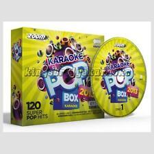 Karaoke CDG Discs - Zoom Pop Box 2013, 120 Chart Hits 6 CDG/CD+G Disc Set Vol 3
