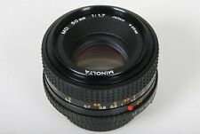 MINOLTA MD 50mm, F/1.7 objectif