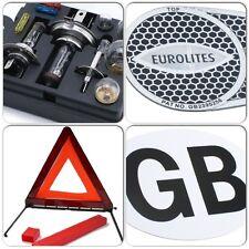 Car Spare Bulb / Fuse Kit & White GB Sticker & Eurolites Beam Benders & Triangle
