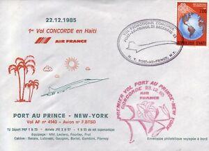 4034+ CONCORDE 1er VOL   PORT AU PRINCE  NEW YORK