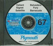 67 PLYMOUTH SATELLITE/ VALIANT SHOP/BODY MANUAL ON CD