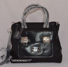 GUESS Ilya Retro Shoulder Bag Purse Handbag Satchel Black Multi Blue Camel New