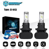 H13 9008 LED Headlight Bulbs Conversion Kit High Low Beam 6000K 2100W 315000LM